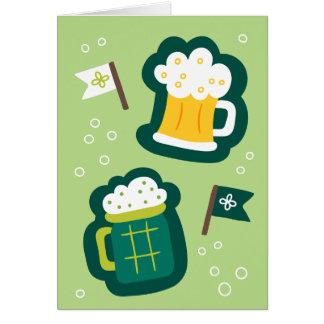 Niedlicher St Patrick Tag trinken auf uns etwas Karte
