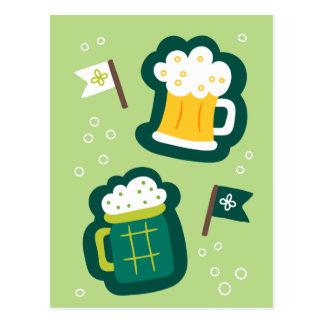 Niedlicher St Patrick Tag trinken auf uns etwas Postkarte