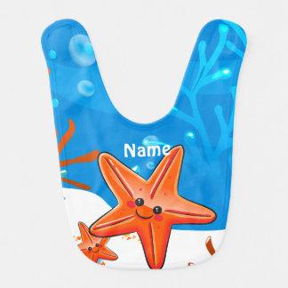 Niedlicher Starfish-Ozean-Wasserbaby-Schellfisch Lätzchen