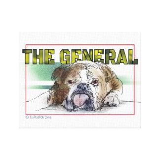 Niedlicher Stier-Hund unwiderstehlich Leinwanddruck
