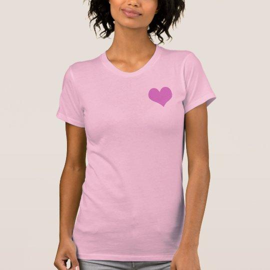Niedlicher süßer lila und rosa Herz-T - Shirt