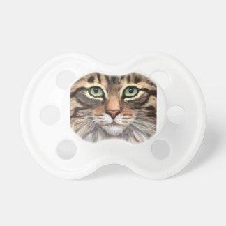 Niedlicher Tabby-Katzen-Baby-Schnuller für 0-6 Schnuller