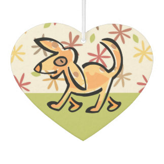 Niedlicher TAN-Cartoon-Hund, Hund auf einem Weg Lufterfrischer