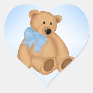 Niedlicher Teddy-Bär, für Baby-Jungen Herz Sticker