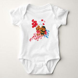 Niedlicher Teddy-Bär Onsie Baby Strampler