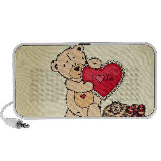Niedlicher Teddy mit Herzen Mp3 Lautsprecher