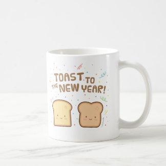 Niedlicher Toast zum neues Kaffeetasse