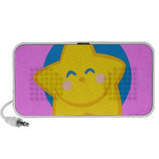 Niedlicher und lächelnder Stern, für Baby-Mädchen Mini Lautsprecher