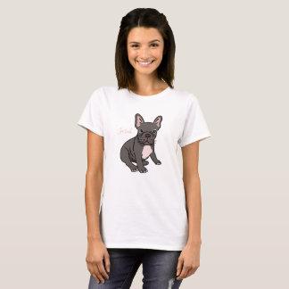 Niedlicher und lustiger französische Bulldoggen-T T-Shirt