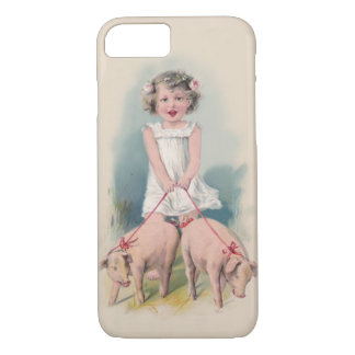 Niedlicher Vintager iPhone 7 Fall - junger Gril iPhone 7 Hülle