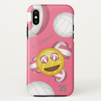 niedlicher Volleyball das emoji der lächelnden iPhone X Hülle