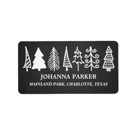 Niedlicher Weihnachtsbaum-Vintager Tafel-Feiertag Adressetiketten