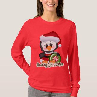 Niedlicher Weihnachtsfeiertag Penguin-T - Shirt