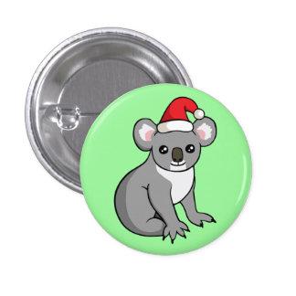 Niedlicher Weihnachtskoala in der Runder Button 3,2 Cm