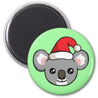 Niedlicher Weihnachtskoala in der Runder Magnet 5,7 Cm