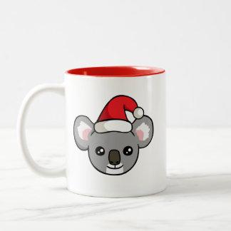 Niedlicher Weihnachtskoala in der Zweifarbige Tasse