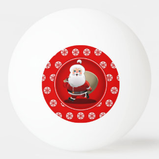 Niedlicher Weihnachtsmann-Cartoon Ping-Pong Ball