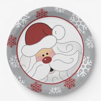 Niedlicher Weihnachtsmann-Feiertags-Papierplatte Pappteller
