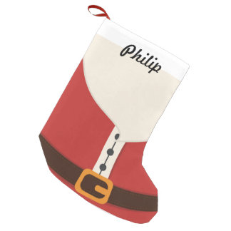 Niedlicher Weihnachtsmann-Kostüm-WeihnachtsStrumpf Kleiner Weihnachtsstrumpf