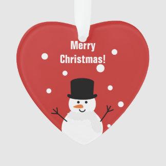 Niedlicher Weihnachtssnowman-Winter-festlicher Ornament