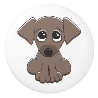 Niedlicher Welpenhund Keramikknauf