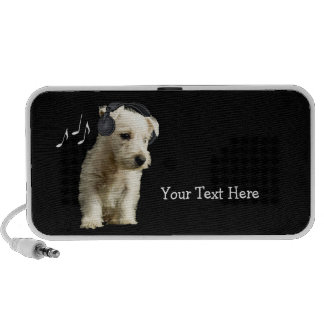 Niedlicher Westie Welpen-kundengerechter tragbarer iPod Speaker