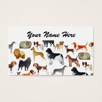 Niedlicher Zucht- Haustier-Hundetapeten-Entwurf Visitenkarte