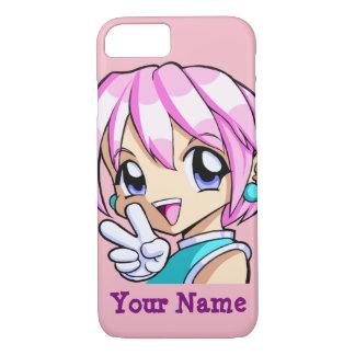 Niedliches Anime-Mädchen iPhone 7 Hülle