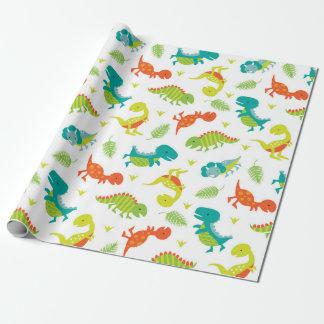 Niedliches Baby-Dinosaurier-Verpackungs-Papier Geschenkpapierrolle