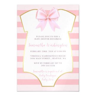 Niedliches Baby-Mädchen erröten rosa Bogen-u. Magnetische Karte