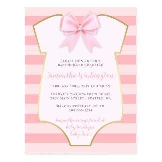 Niedliches Baby-Mädchen erröten rosa Bogen-u. Postkarte