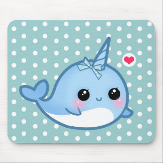 Niedliches Baby narwhal Mousepad