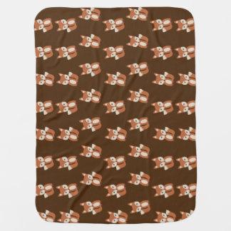 Niedliches Babyfox-Tierdruck-Muster Babydecke