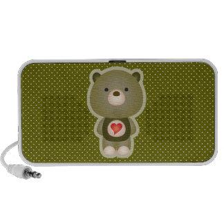 Niedliches Bärn-Grün iPod Speaker