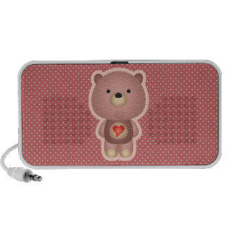 Niedliches Bärn-Rosa Mini Speaker