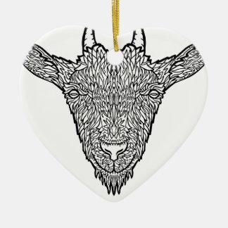 Niedliches Billy-Ziegen-Gesichts-verwickelte Keramik Ornament