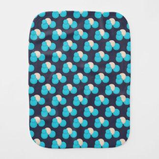NIEDLICHES blaues und weißes Punkt-Muster Baby Spuchtücher