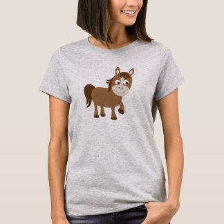 Niedliches Brown-Pferd T-Shirt