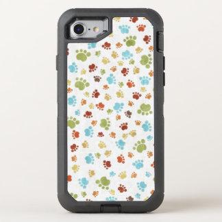 Niedliches buntes Tierabdruck-Muster OtterBox Defender iPhone 7 Hülle