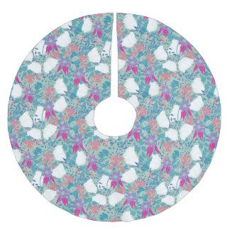 Niedliches buntes Vintages Blumen Polyester Weihnachtsbaumdecke