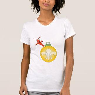 Niedliches Cajun Panzerkrebs-Lilien-Weihnachten T-Shirt