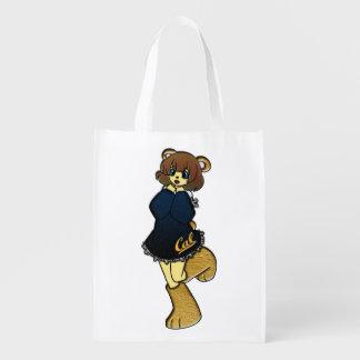 Niedliches cal-Bärn-Mädchen Wiederverwendbare Einkaufstasche