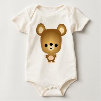 Niedliches Cartoon-Bärenjungs-Baby Strampelanzug