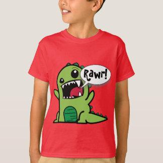 "Niedliches Cartoon-Grün ""Rawr!"" Dinosaurier T-Shirt"