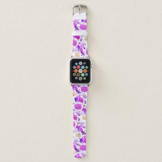 Niedliches Cartoon-Katzen-Muster Apple Watch Armband