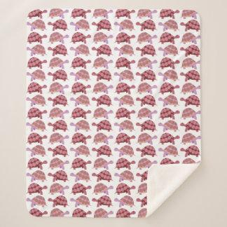 Niedliches Cartoon-Schildkröten-Muster Sherpadecke
