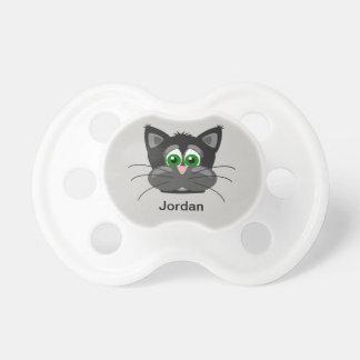 Niedliches die Katzen-Gesicht des Kindes Schnuller