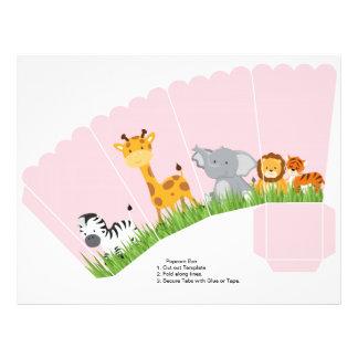 Niedliches Dschungel-Tier-Mädchen ausgebogter 21,6 X 27,9 Cm Flyer