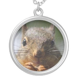 Niedliches Eichhörnchen-lächelndes Foto Versilberte Kette