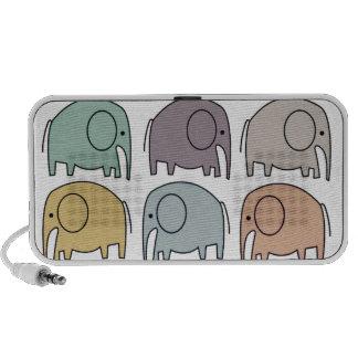 Niedliches Elefant-Gekritzel! Speaker System